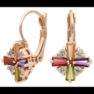 Colorful Cubic Earrings by Galleria